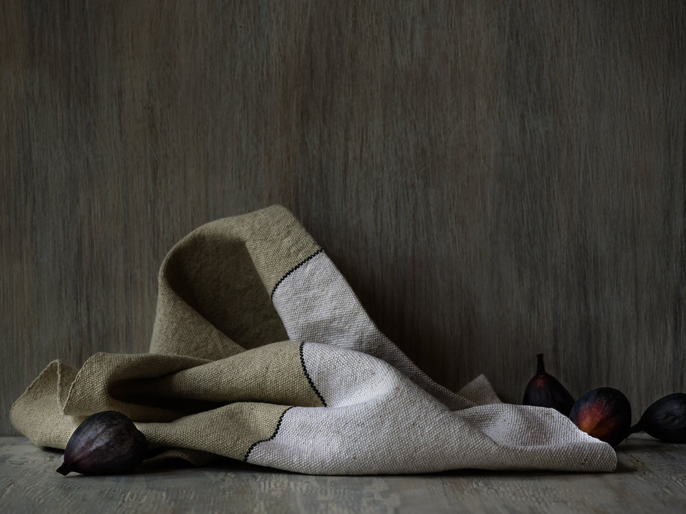 Half Natural Plain Weave Hand Towel