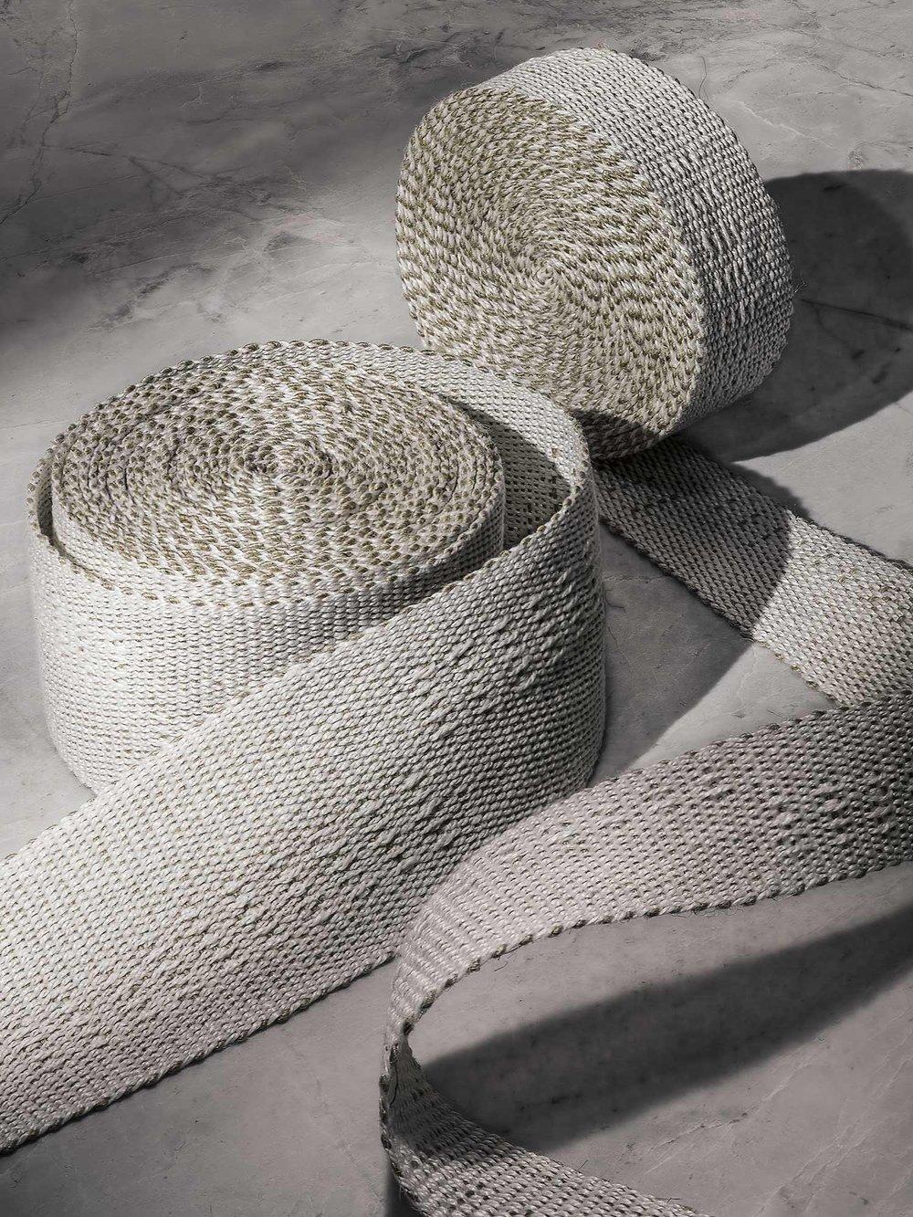 Long Blocks Handwoven Linen Tape, medium and narrow