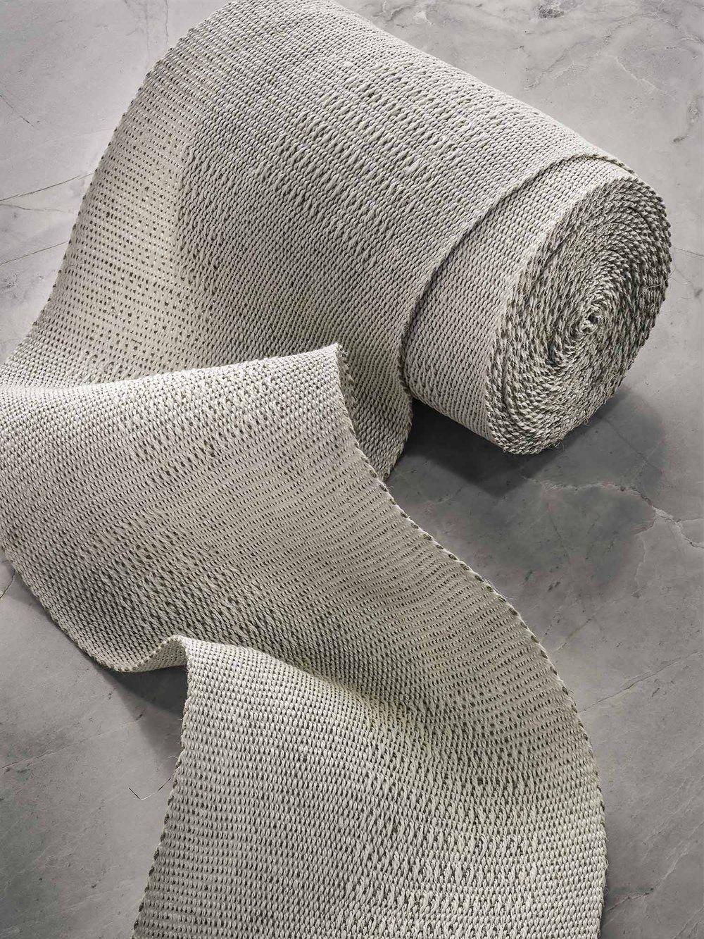 Long Blocks Handwoven Linen Tape, Wide