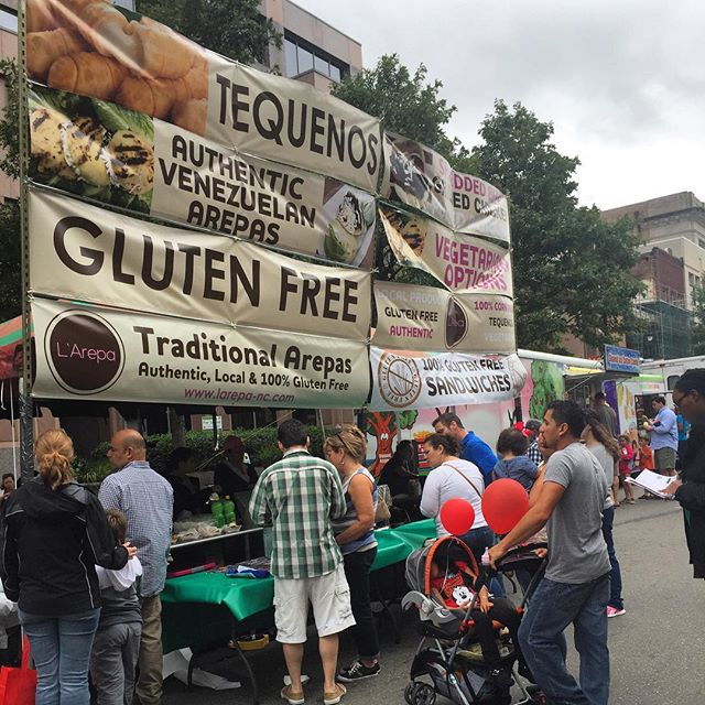 So much fun at #fiestadelpueblo2015 today!! Thanks to everyone who stopped by and had our delicious arepas! #glutenfree #arepa #arepas #arepasvenezolanas #larepa #arepasrellenas