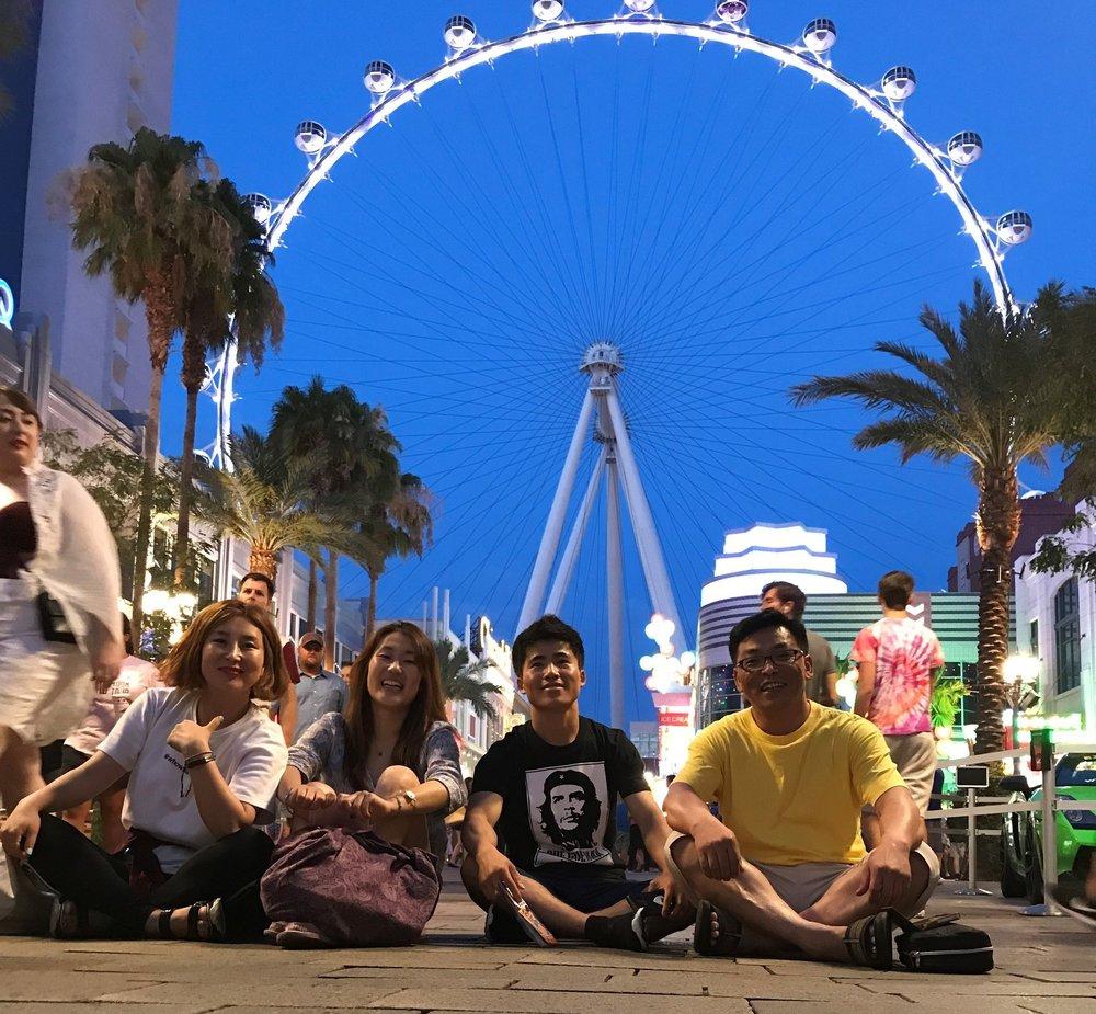 Left to right, Sunny, Jade, Muno, Jeong in LA.
