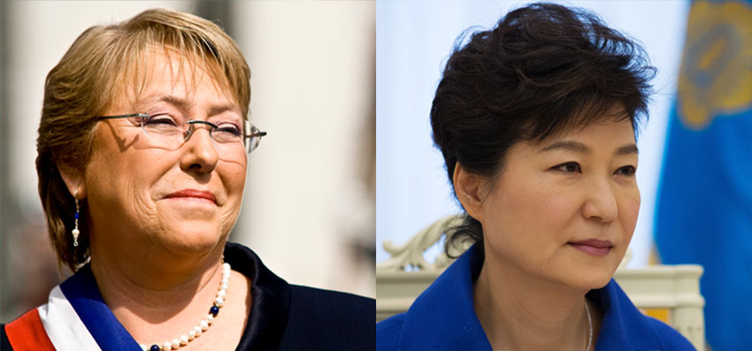 Michelle Bachelet and Park Geun-Hye