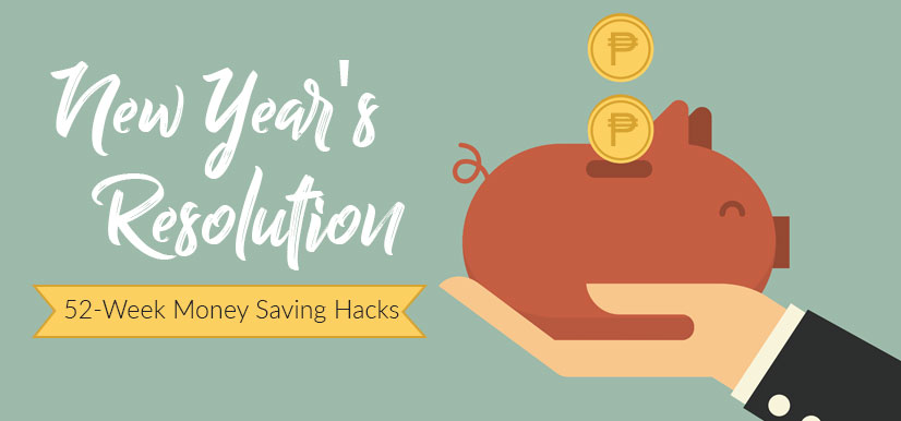 New Year's Resolution: 52-Week Money Saving Hacks