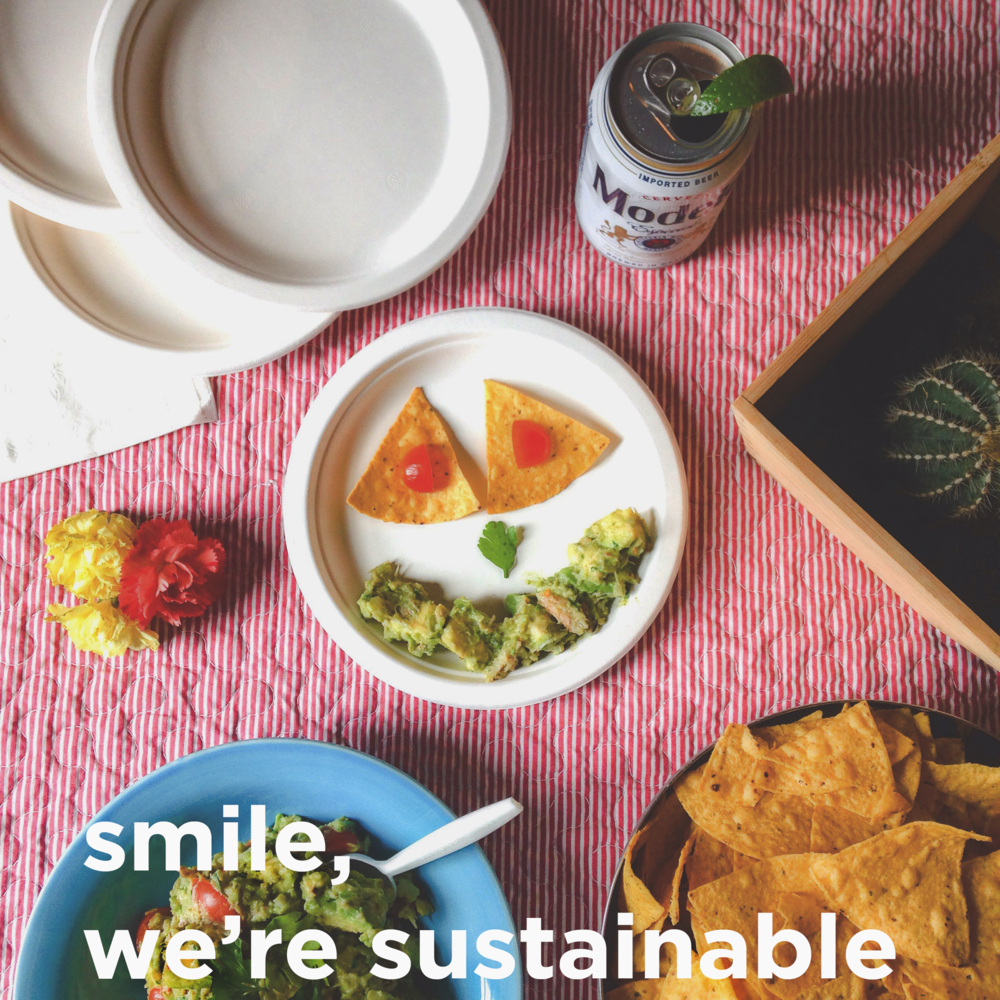 Sustainable Tree-Free Compostable Compo Plates and Tableware