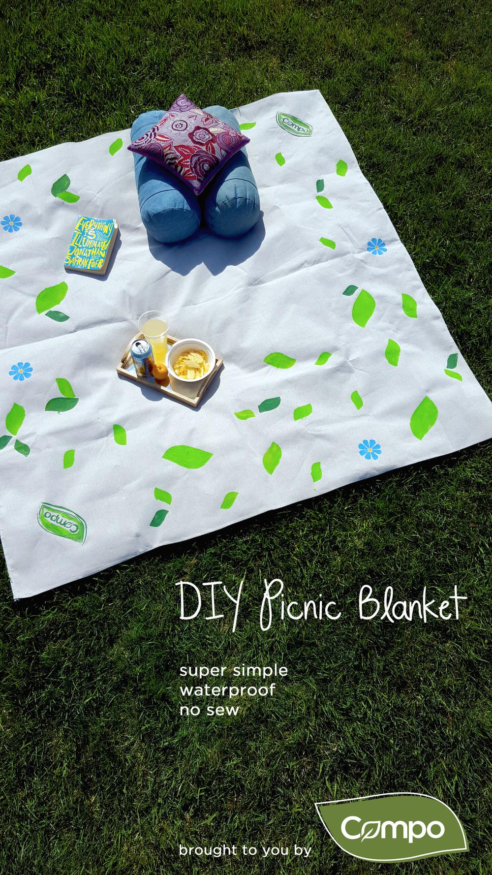 DIY Picnic Blanket Tutorial_Compo Picnicware