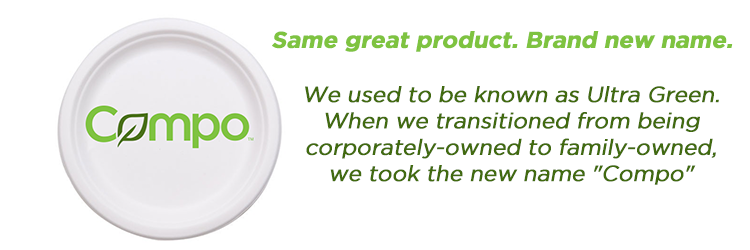 Ultra Green Retail Products_New Name_Rebrand_Compo_Ecofriendly Cups Utensils Plates Compostable Products
