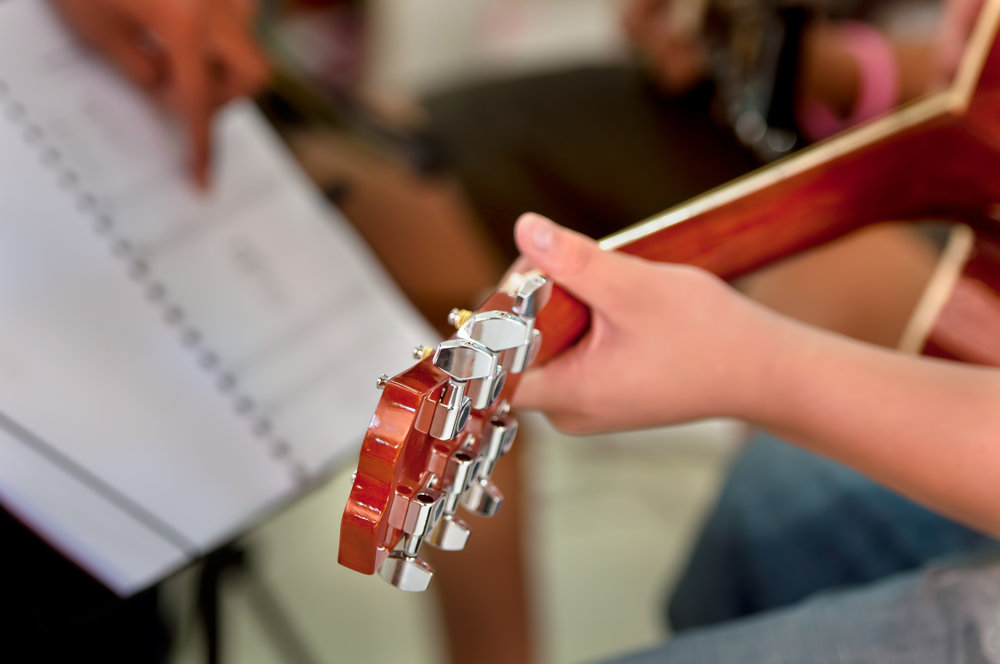 We have trained instructors that can teach guitar, piano, voice, bass, drums, woodwinds and brass.