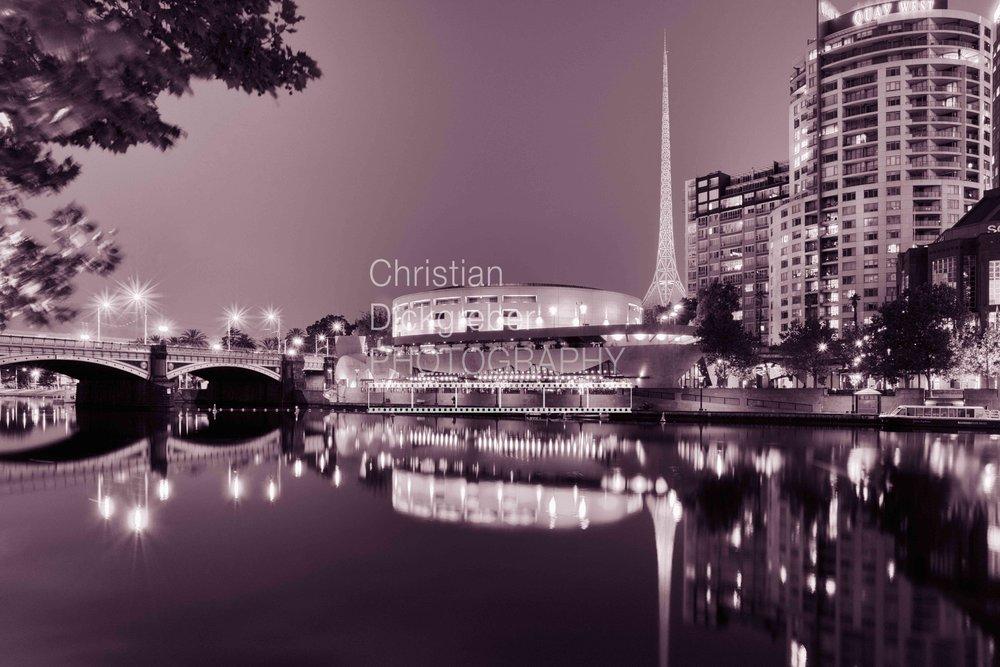 Melbourne - Yarra River, Hamer Hall and Arts Centre