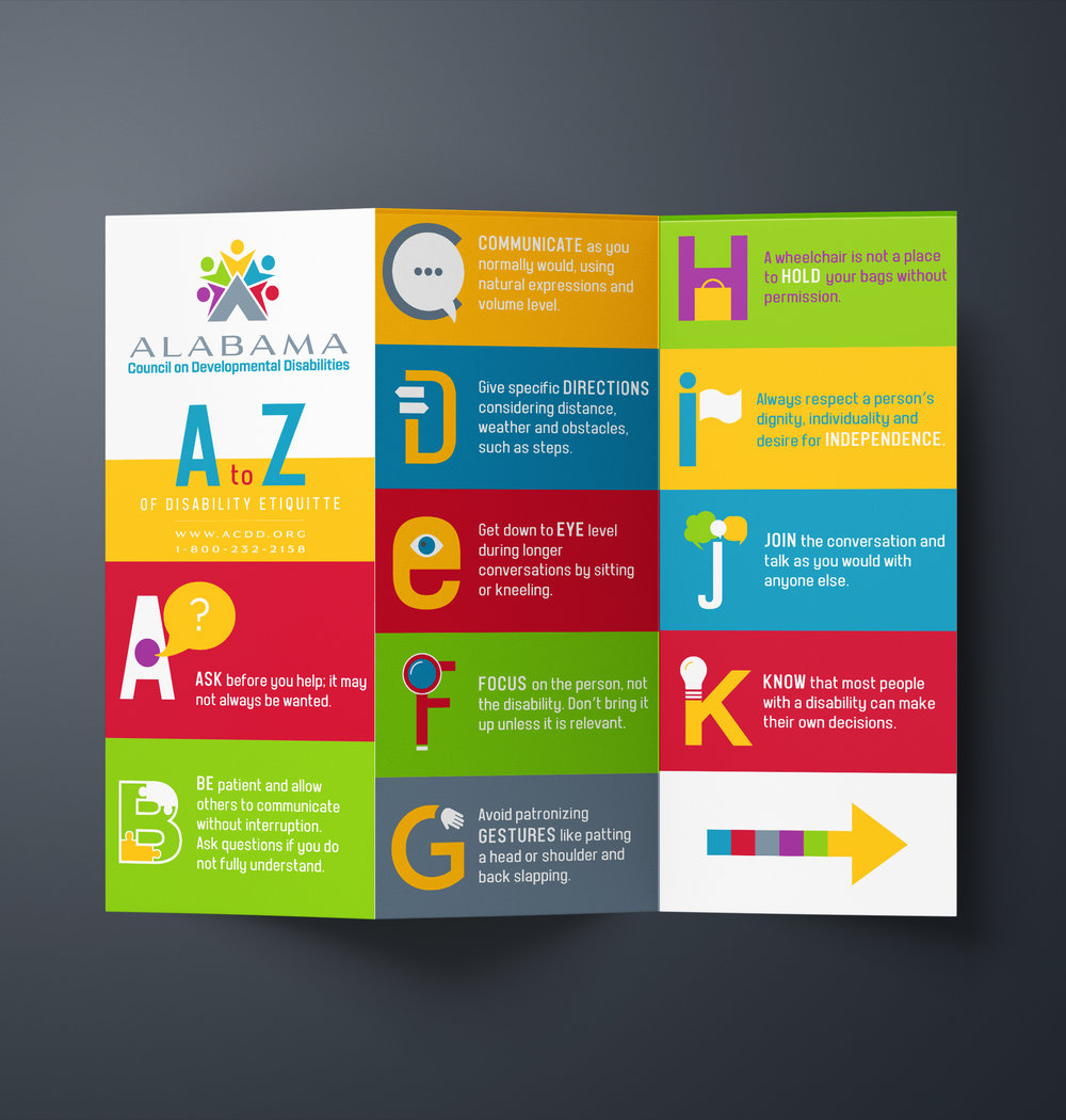 Alabama Council of Developmental Disabilities // Brochure Design