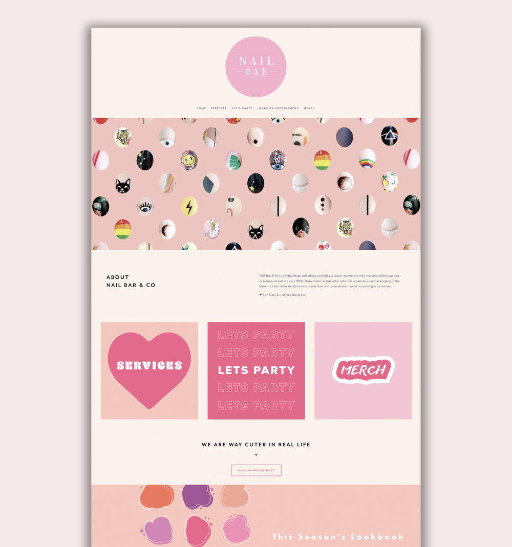 Nail Bar and Company // Brand Identity