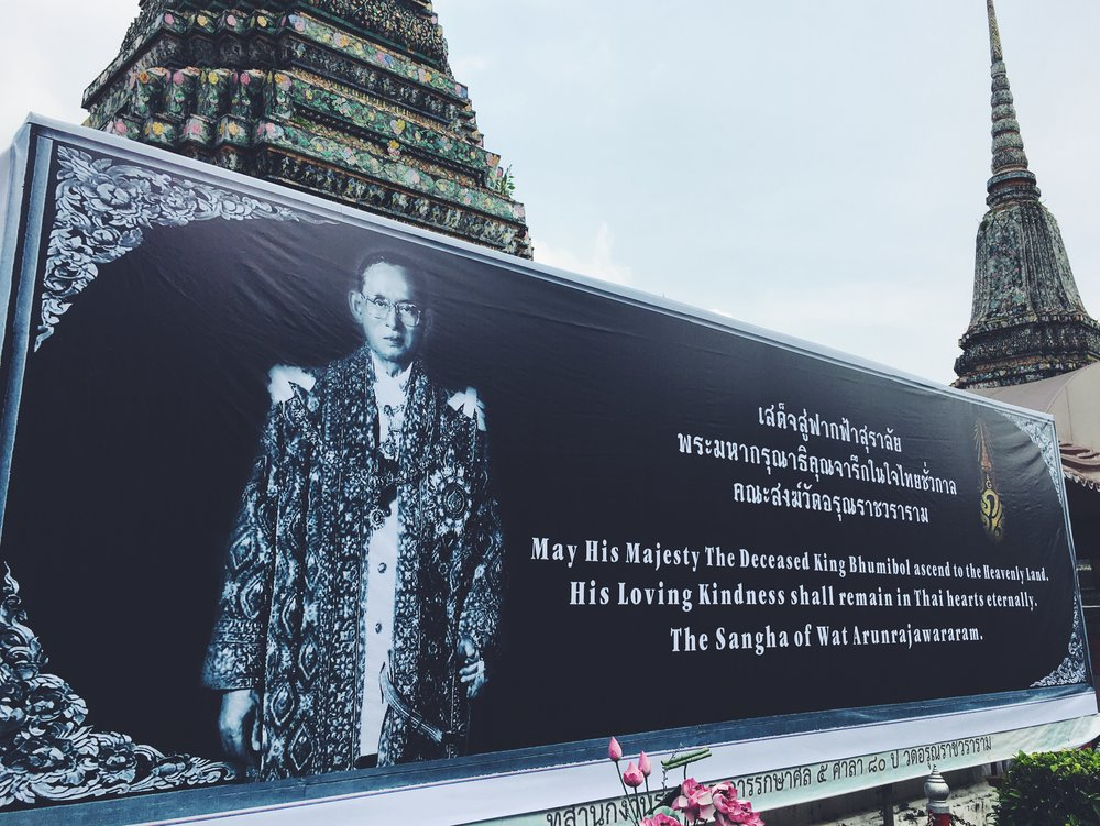 """May His Majesty The Deceased King Bhumibol ascend to the Heavenly Land. His Loving Kindness shall remain in Thai hearts eternally."""