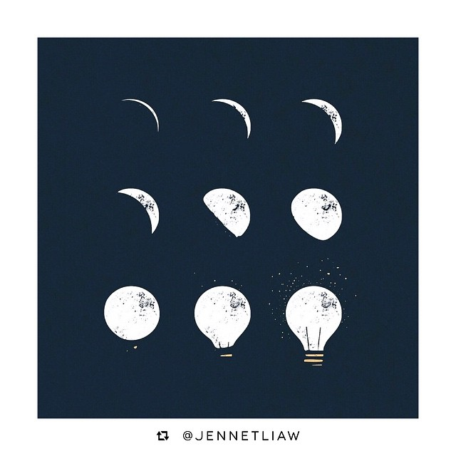We're absolutely loving this clever design by @jennetliaw of her Phases of an Idea. Our Millers completely identify with the magic of nocturnal idea generation too! What is your process like? Do share with us!💡💡💡#design #idea #concept #jennetliaw