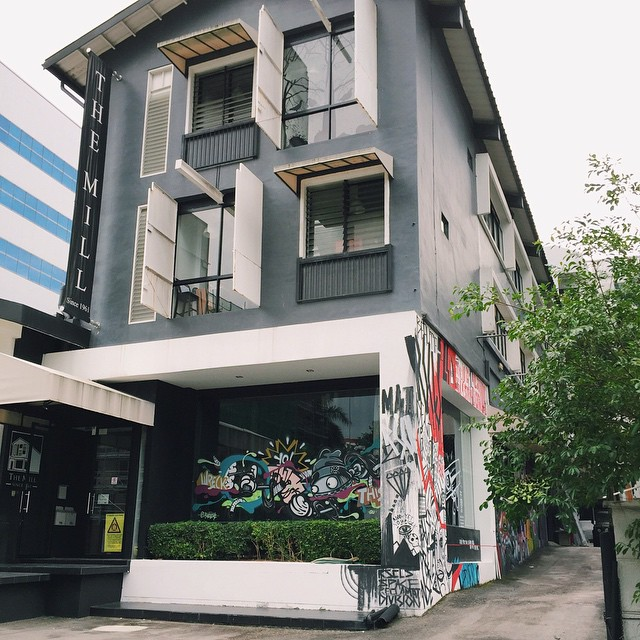 We might just have the coolest office on the block!! #deckthewalls #graffiti #demolitionparty #restruct #rscls #themillsg #sgig