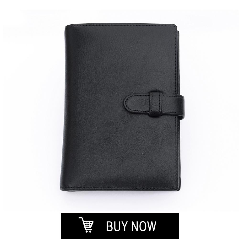 本革ペンフォリューム<BR>コンパクトポートフォリオ<BR>ブラック $85.00