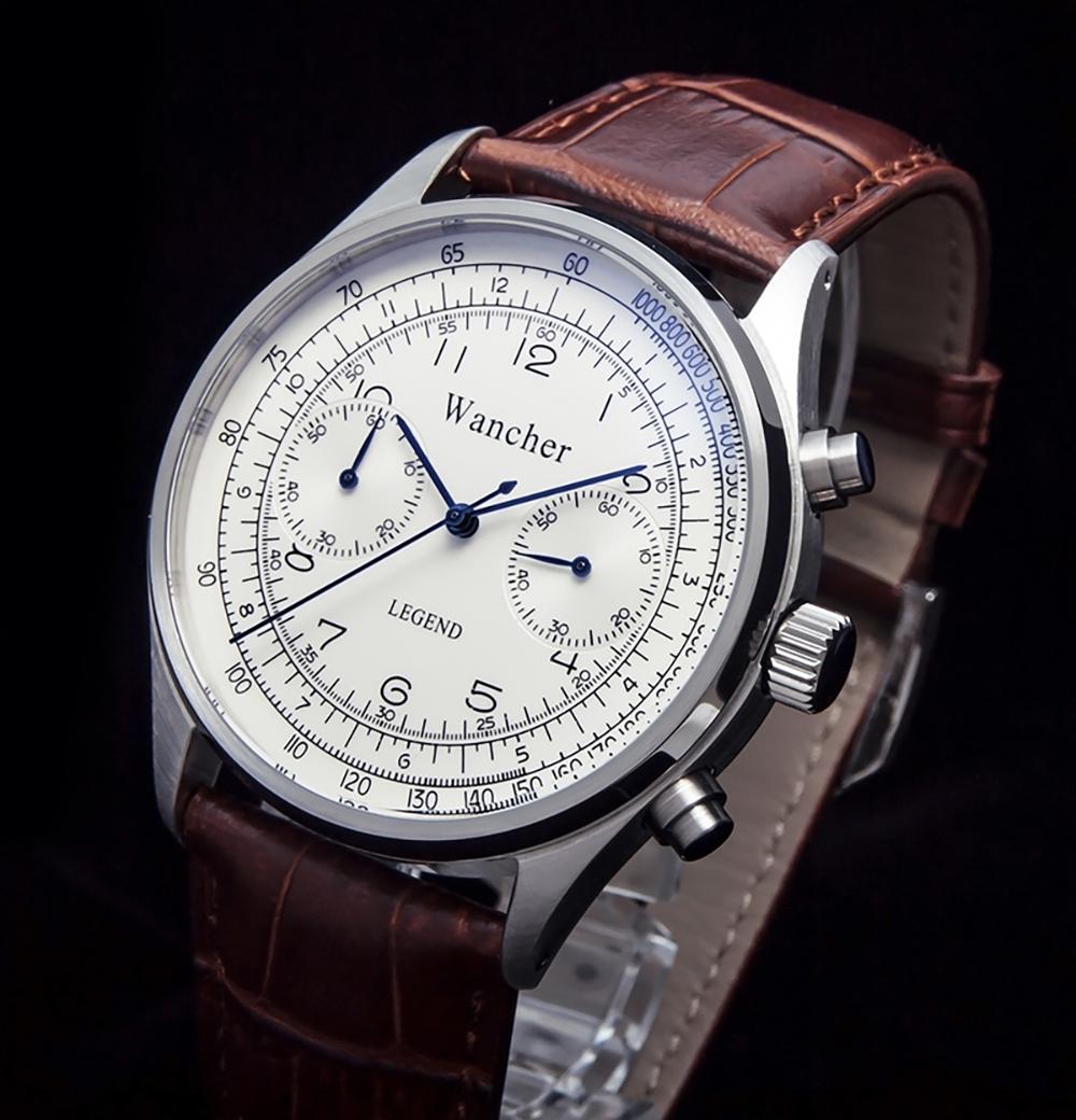 湾曲風防 - 曲面を出すために、大型の硬質ガラス採用 アンティーク時計の風合いを感じます