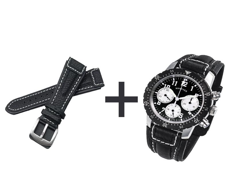 - アエロナハト時計を注文して、本革製ベルト黒色×1本を入手