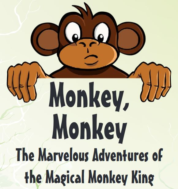 "This tale, adapted by Charles Jones from the novel Monkey by Wu Ch'eng-en, shows what can happen when one gets too big for one's breeches! Monkey is ""born"" from a magic stone placed on a hillside by the Jade Emperor, Ruler of Earth and Sky. A brave and daring creature, Monkey soon earns the title Handsome Monkey King when he fearlessly breaks through the falling water and returns to tell of a lush land for his monkey colony to claim.      Students in this laboratory-style play class will use this creative script to learn about all aspects of putting together a show. They will take on every role, both on-stage and off, learning acting, voice, articulation, movement, and stage presence, all in the context of learning lines, playing roles, and preparing costumes, props, and sets for performance. The last class will end in a show for friends and family!"