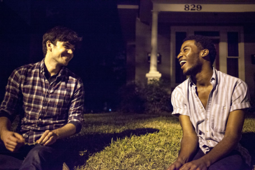 """Jordan Nichols (Billy) and Tristan Andre Parks (Hart) in """"Feral"""""""