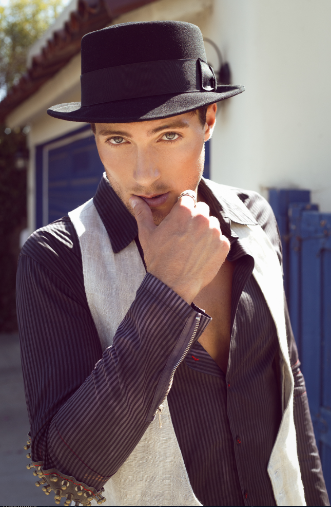 Hat: Goorin Brothers, Shirt: Bohemian Society, Vest: Clade