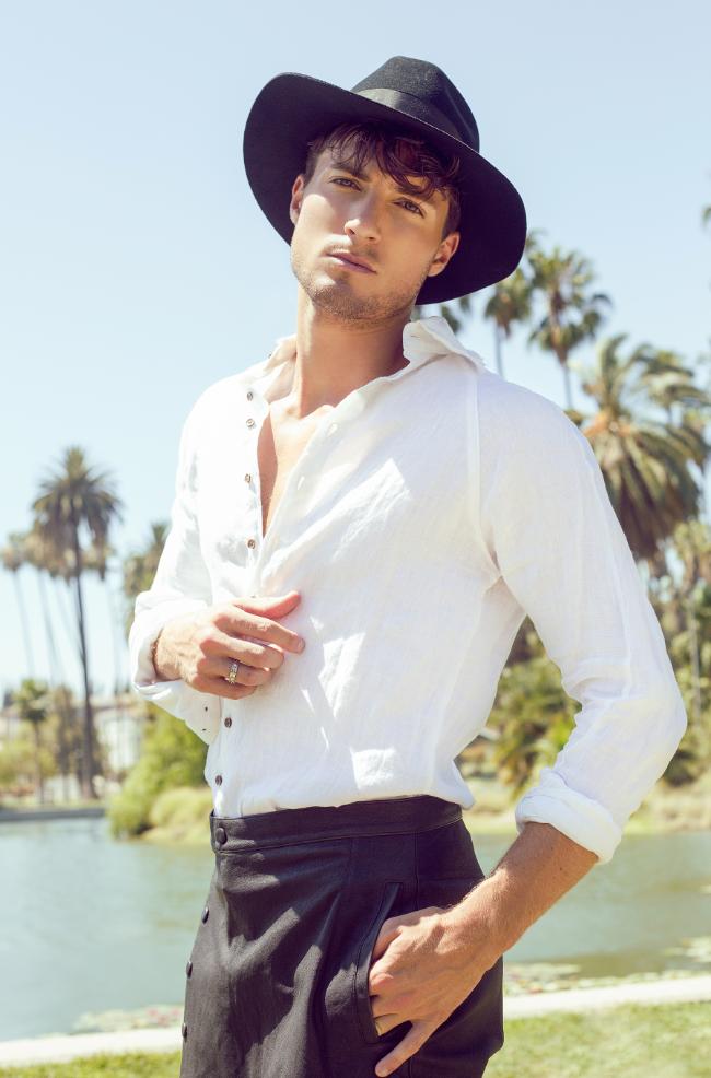 Hat: Goorin Brothers, Shirt: Clade,Pants: Daniel Patrick