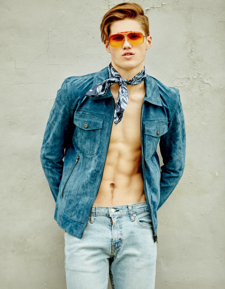 Jacket & Scarf: Zara, Pants: Levi Sunglasses: Vintage