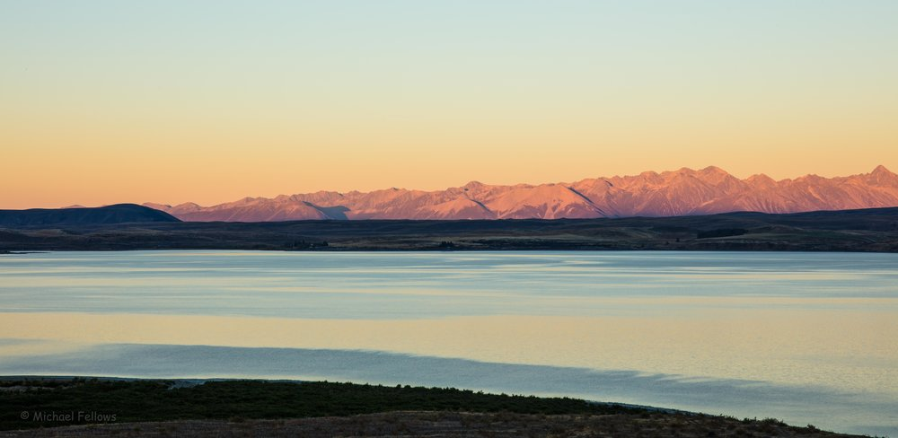 Sunrise over Lake Pukaki