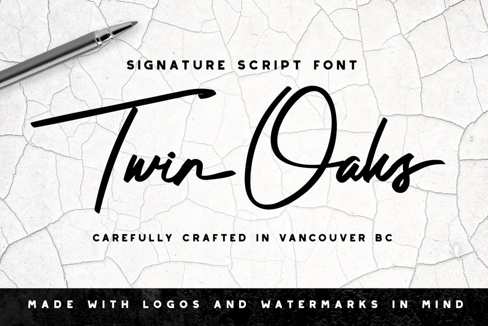 Twin Oaks Signature Font - Available on Creative Market