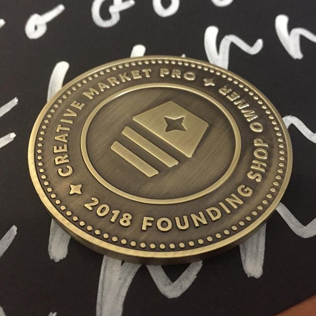 Thanks for the cool medal/coin @creativemarket !