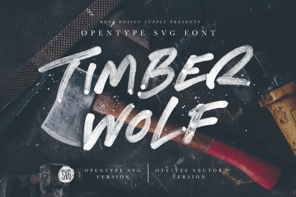 Timber Wolf SVG Font - Available on Creative MarketAvailable on Font Spring