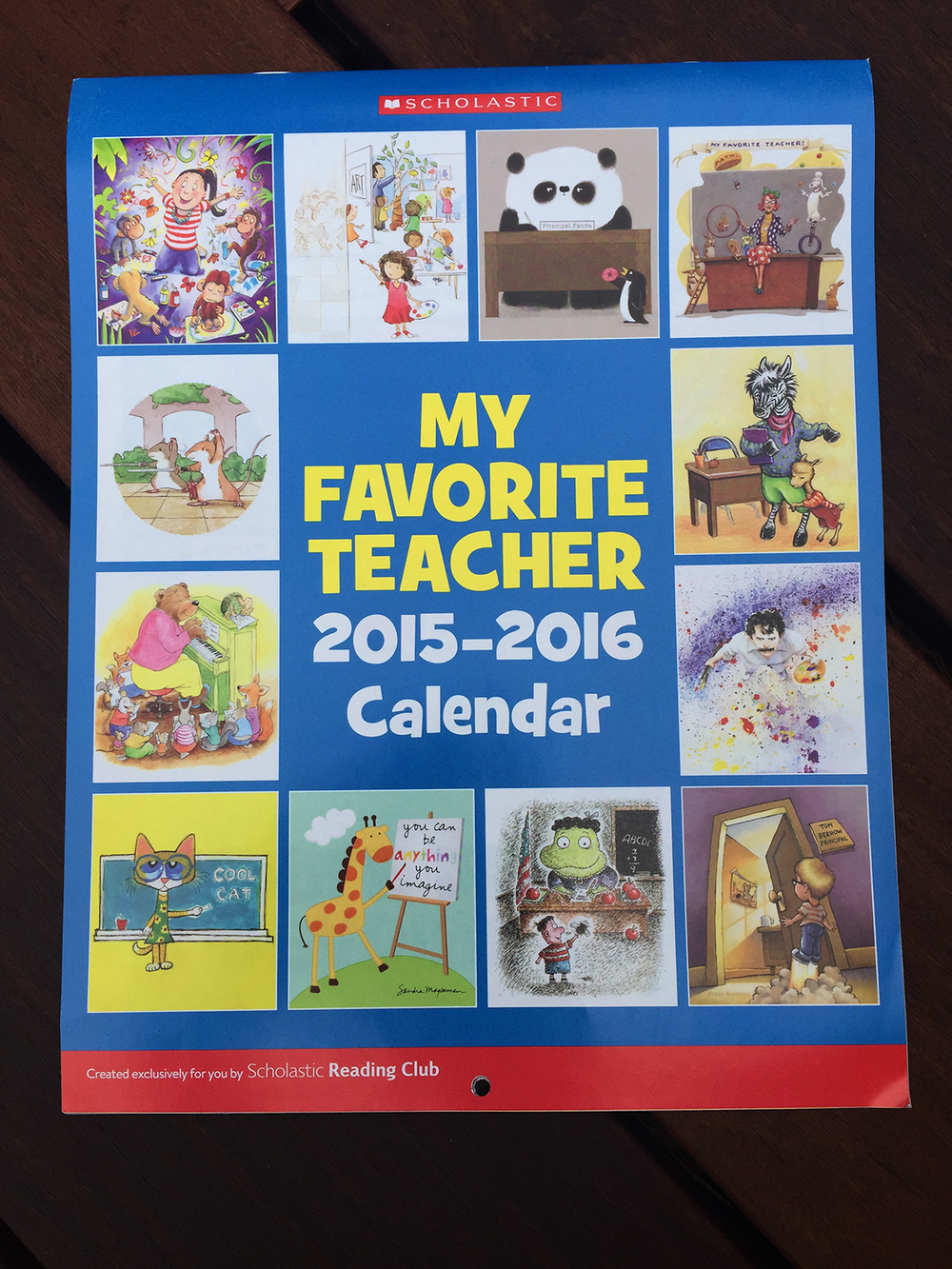 Scholastic Reading Club Calendar