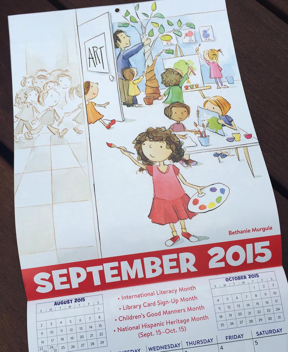 Bethanie Murguia, Scholastic Reading Calendar