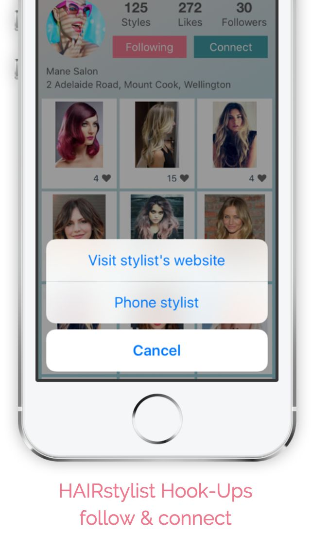 Connect and follow hair stylists