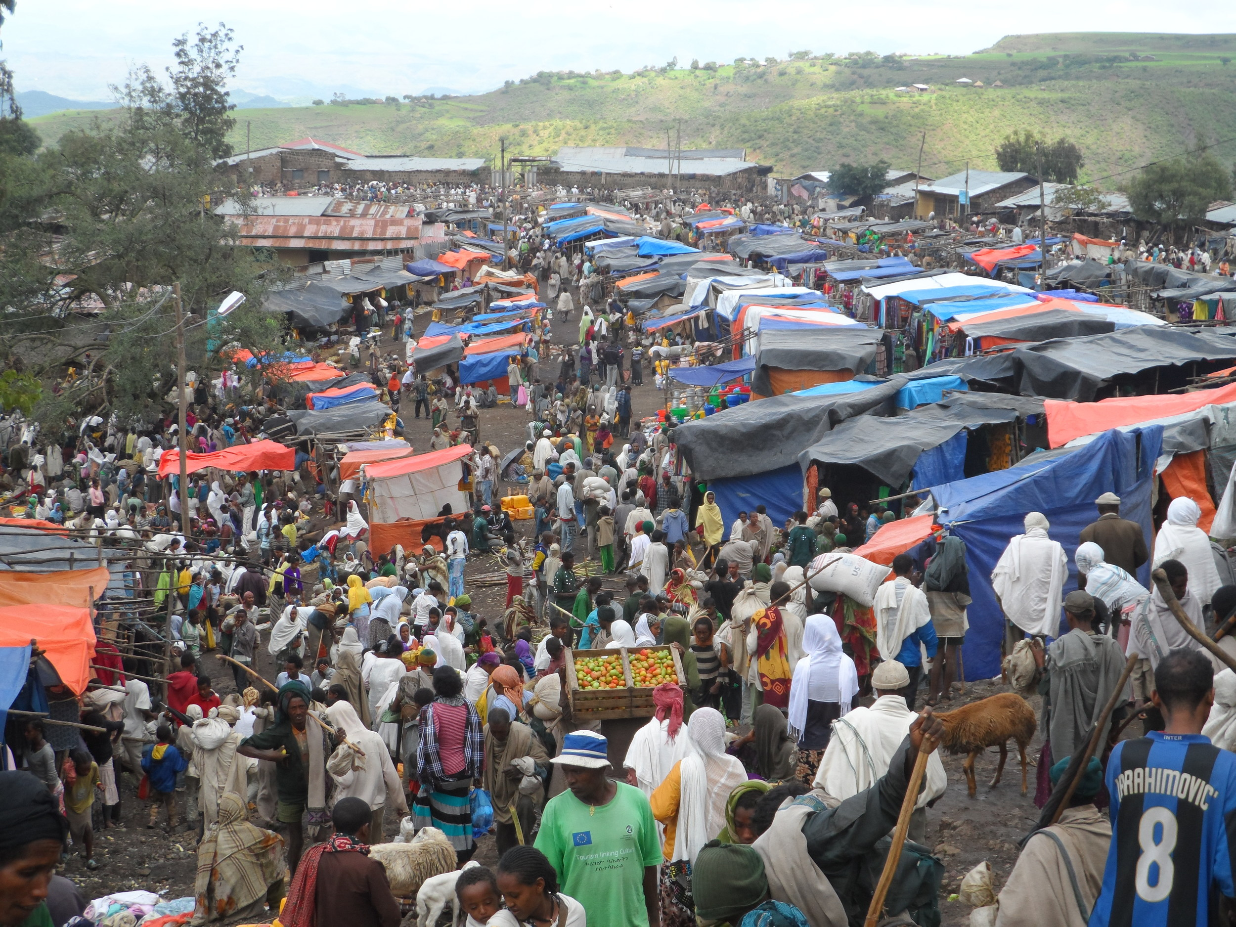 the Lalibela market