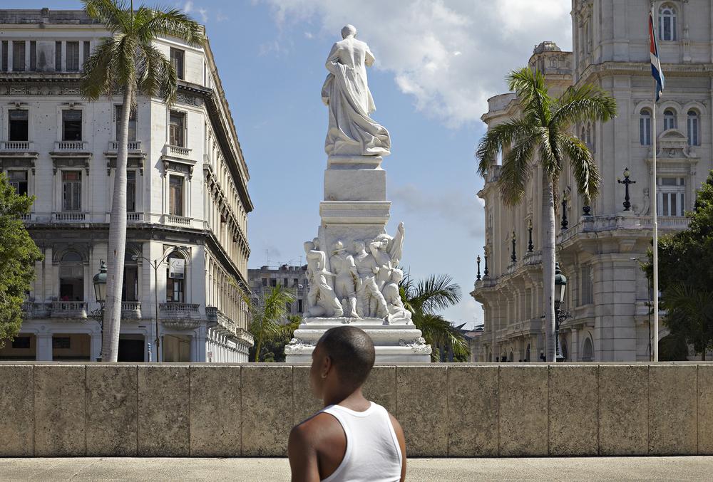 "Statue of José Marti, the ""George Washington of Cuba   ,""  in Parque Central , Havana, Cuba 2009 © Richard Sexton"