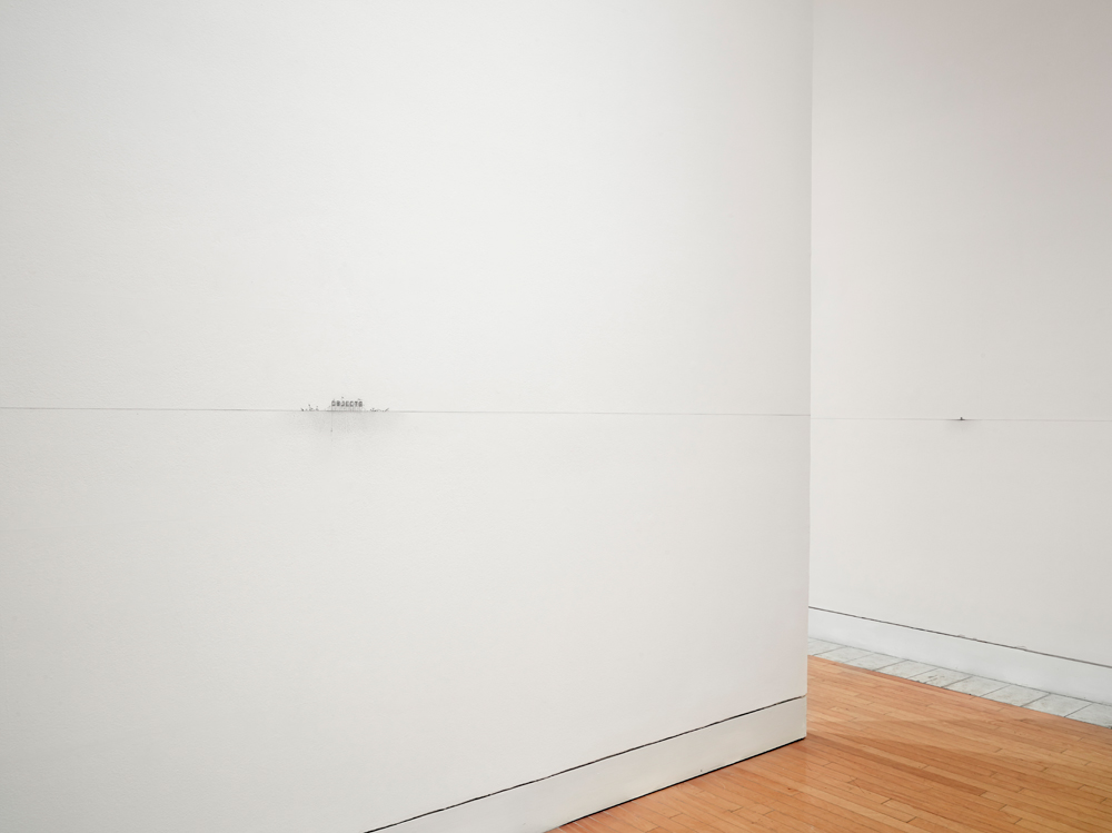""" Emptiness""   2015. Site specific  wall drawing. Lowe Art Museum, Coral Gables, Florida ."