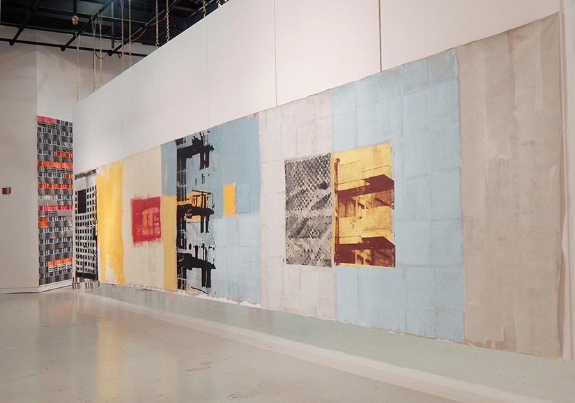 Juan Raúl Hoyos.Imagen de sala. Exposición  Archictectural Playground, 2016,