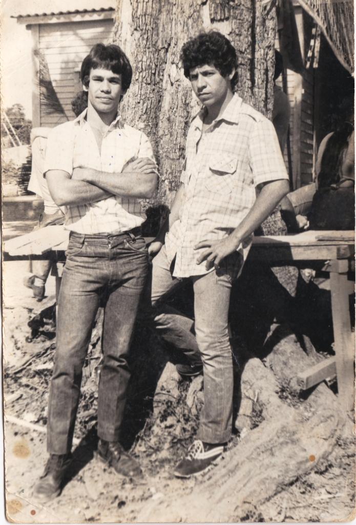 Lazaro Echavarria y yo en un campamento de la escuela al campo en Pinar del Rio en 1984_.jpg