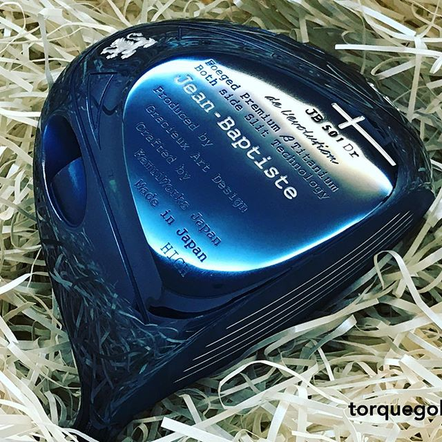 Jean-Baptiste Forged Titanium Driver in Blue Ion #jeanbaptistegolf #torquegolf #torquegolffitting