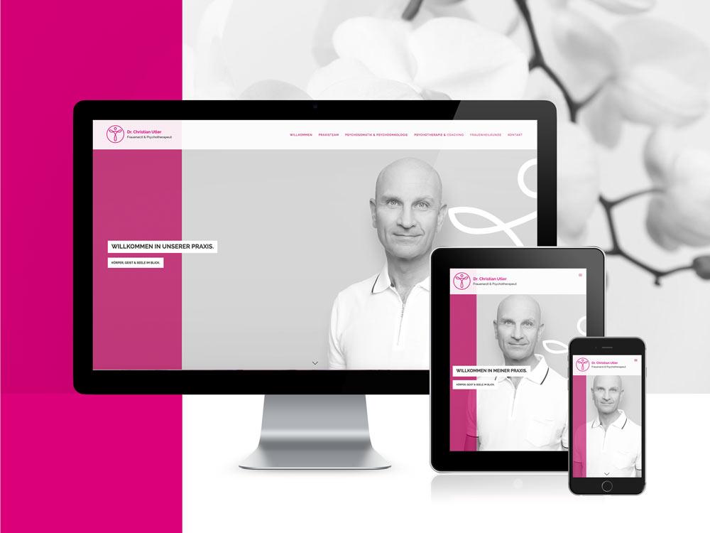 <strong>Christian Utler | Frauenarztpraxis  </strong>Corporate, Logo, Drucksachen, Internetauftritt