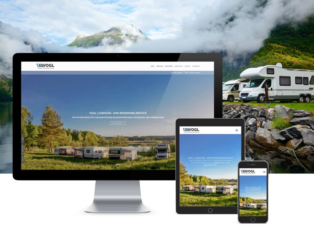 <strong>Vogl | Reisemobilservice </strong>Branding, Corporate, Drucksachen, Internetauftritt