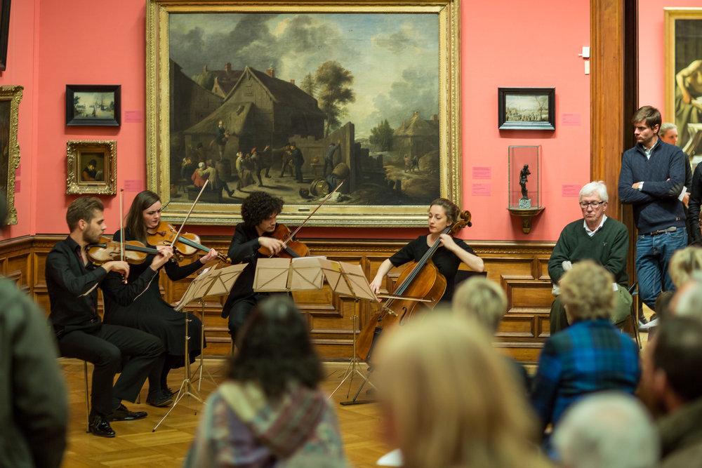 Foto: Kvartettserien. Fra fjorårets konsert.