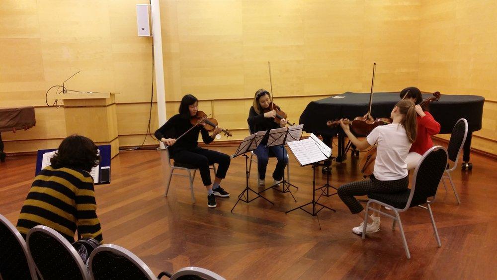 - Mesterklasse med Quatuor Danel