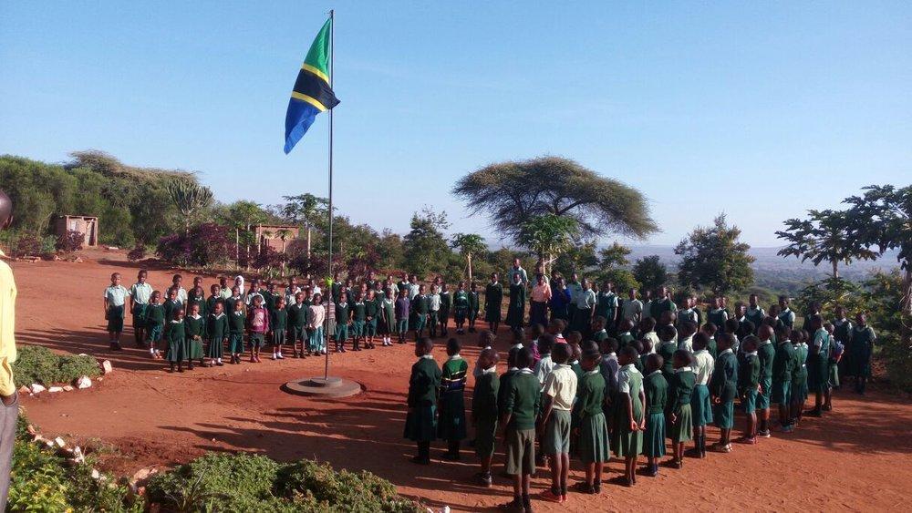 Morning assembly  Photo: YC