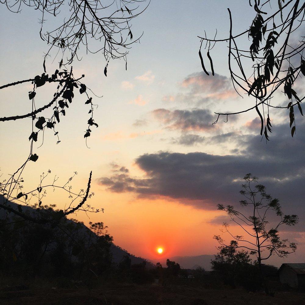 The famous Mlali sunset