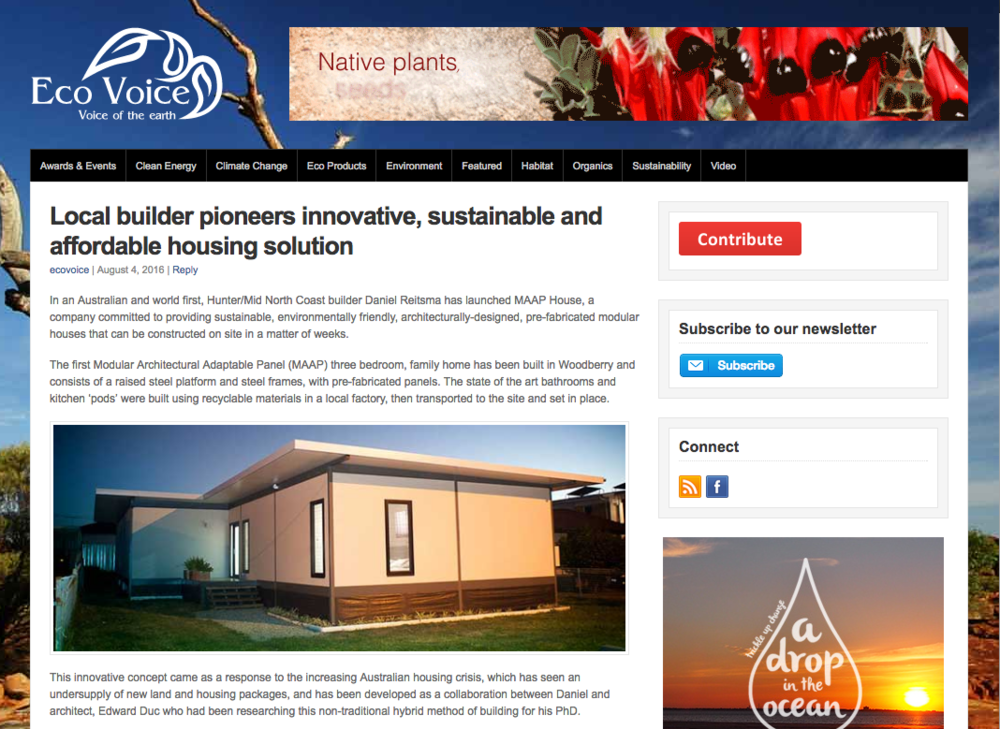 MAAP House in the News — MAAP House