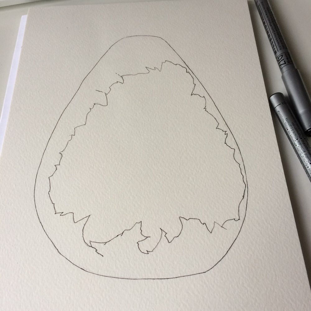 This ones been inked up already, but it's galaxy egg!