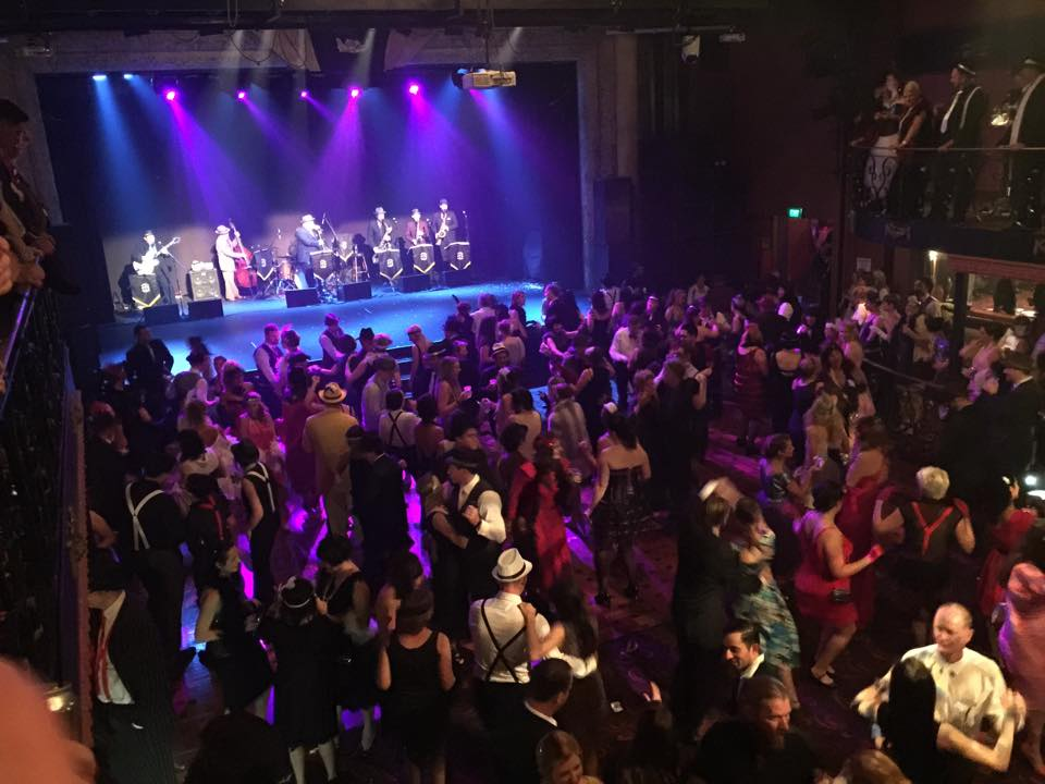 Crowded dancefloor at the Gangster's Ball
