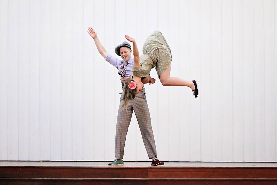 Brisbane Swing dancing aerials.  Lindy Hop airsteps. Left Hook