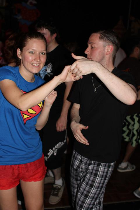 My very first dance exchange. Don't judge, it was a pyjama party