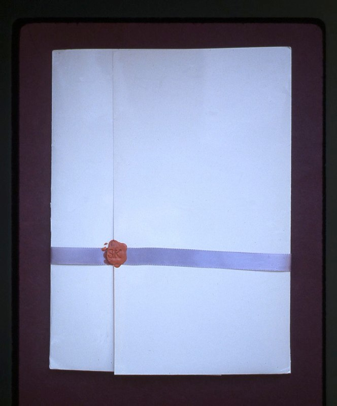 Letter portfolio, 1975